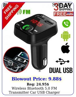 wireless bluetooth fm transmitter car usb charger adapter kit radio playe