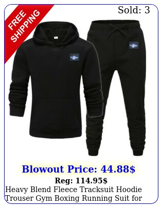 heavy blend fleece tracksuit hoodie trouser gym boxing running suit me