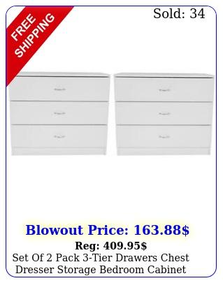 set of pack tier drawers chest dresser storage bedroom cabinet nightstan