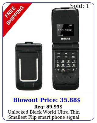 unlocked black world ultra thin smallest flip smart phone signal stand by