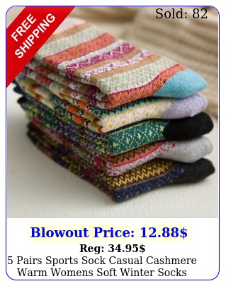 pairs sports sock casual cashmere warm womens soft winter socks thick wool lo