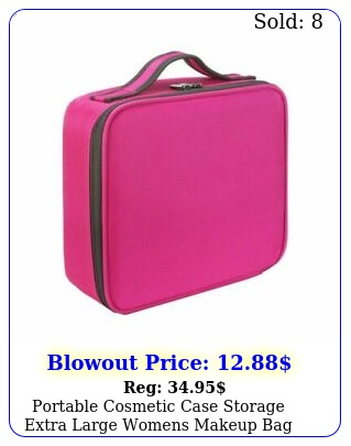 portable cosmetic case storage extra large womens makeup bag handle organize