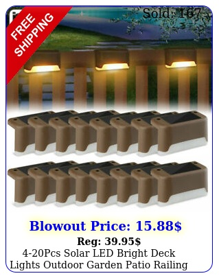 pcs solar led bright deck lights outdoor garden patio railing path lighting