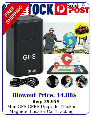 mini gps gprs upgrade tracker magnetic locator car tracking device anti theft u