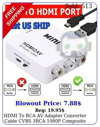 hdmi to rca av adapter converter cable cvbs rca p composite video audi
