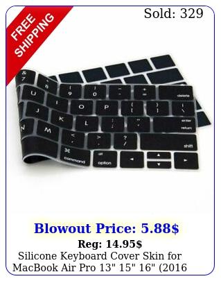 silicone keyboard cover skin macbook air pro   thr