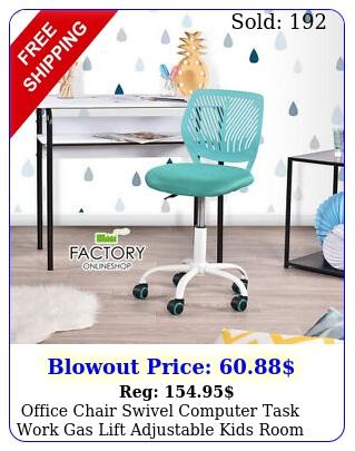 office chair swivel computer task work gas lift adjustable kids room chair