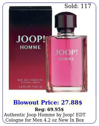 authentic joop homme by joop edt cologne men oz in bo