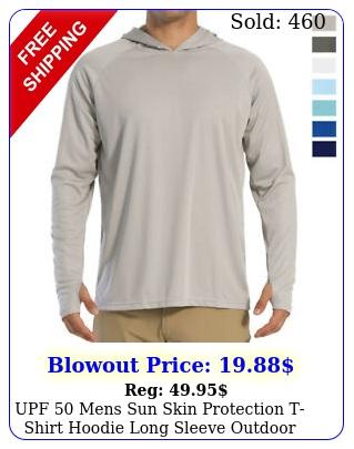 upf  mens sun skin protection tshirt hoodie long sleeve outdoor fishing top