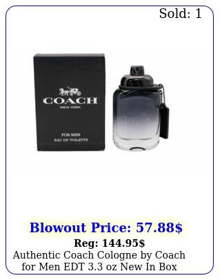 authentic coach cologne by coach men edt oz i