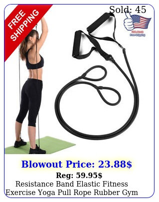 resistance band elastic fitness exercise yoga pull rope rubber gym workout band