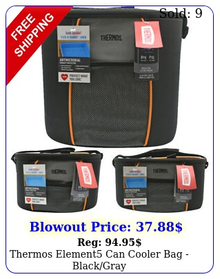 thermos element can cooler bag blackgra