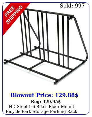 hd steel bikes floor mount bicycle park storage parking rack stand