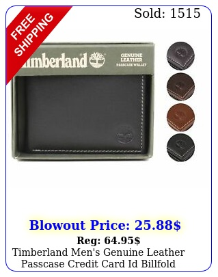 timberland men's genuine leather passcase credit card id billfold walle