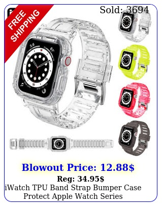 iwatch tpu band strap bumper case protect apple watch series m