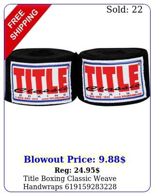 title boxing classic weave handwrap