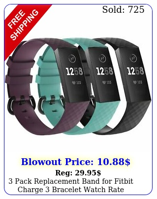 pack replacement band fitbit charge  bracelet watch rate fitnes