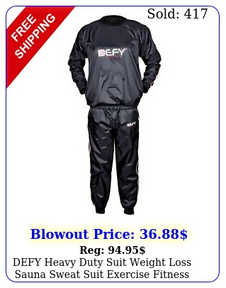 defy heavy duty suit weight loss sauna sweat suit exercise fitness gym antiri