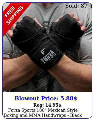 forza sports mexican style boxing mma handwraps blac