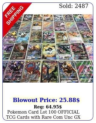 pokemon card lot official tcg cards with rare com unc  gx ex hyper mega
