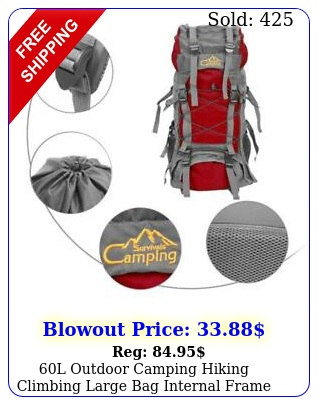 l outdoor camping hiking climbing large bag internal frame pack backpack re