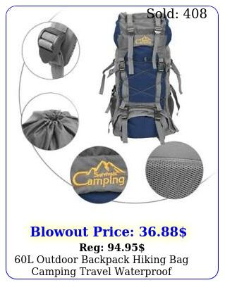 l outdoor backpack hiking bag camping travel waterproof mountaineering pac