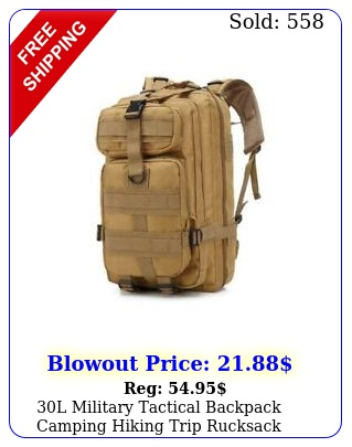 l military tactical backpack camping hiking trip rucksack daypack mud colo