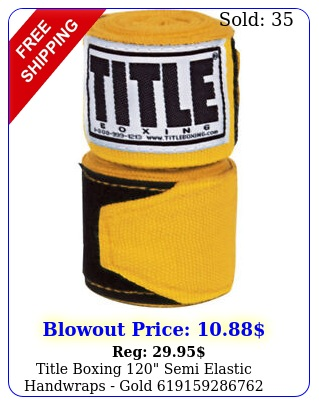 title boxing semi elastic handwraps gol
