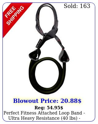 perfect fitness attached loop band ultra heavy resistance lbs blac