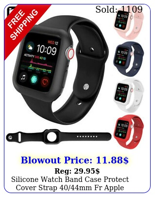 silicone watch band case protect cover strap mm fr apple watch series