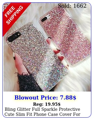 bling glitter full sparkle protective cute slim fit phone case cover iphon