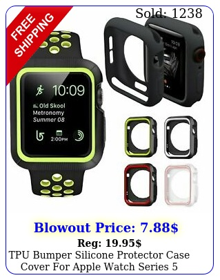 tpu bumper silicone protector case cover apple watch series mm m