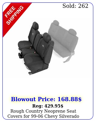 rough country neoprene seat covers chevy silverado ext ca