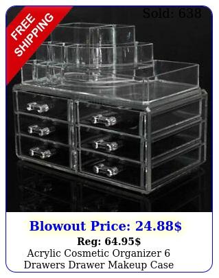 acrylic cosmetic organizer drawers drawer makeup case storage holde