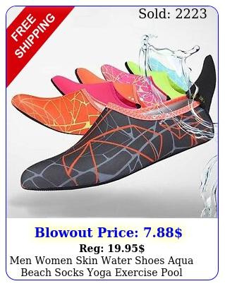 men women skin water shoes aqua beach socks yoga exercise pool swim slip on sur