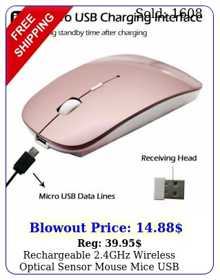 rechargeable ghz wireless optical sensor mouse mice usb receiver fr laptop p