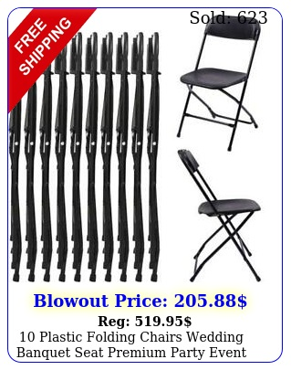 plastic folding chairs wedding banquet seat premium party event chair blac
