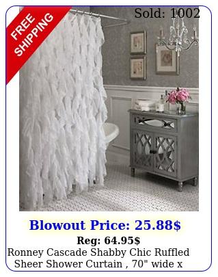 ronney cascade shabby chic ruffled sheer shower curtain  wide x lon