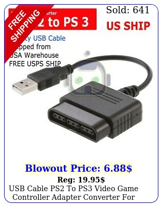 usb cable ps to ps video game controller adapter converter ps to ps p