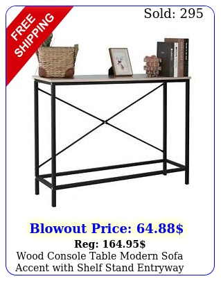 wood console table modern sofa accent with shelf stand entryway hall furnitur