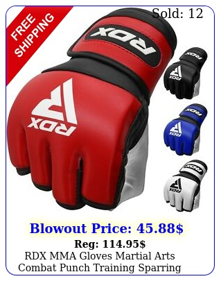 rdx mma gloves martial arts combat punch training sparring fighting grapplin