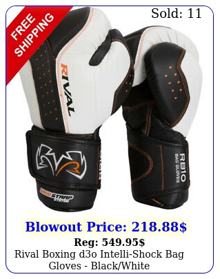 rival boxing do intellishock bag gloves blackwhit