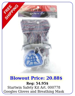 startwin safety kit art googles gloves breathing mask safety firs