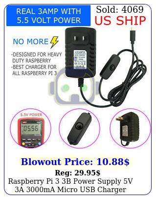 raspberry pi b power supply v a ma micro usb charger adapte