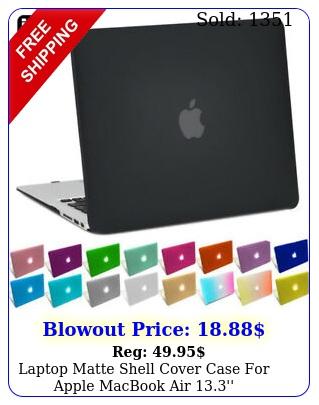 laptop matte shell cover case apple macbook air '' a