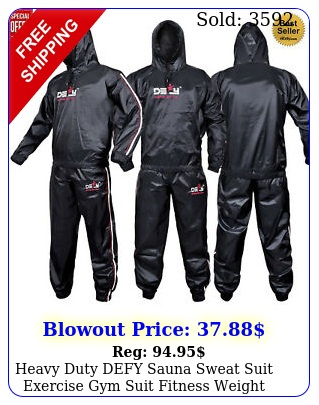 heavy duty defy sauna sweat suit exercise gym suit fitness weight loss antiri