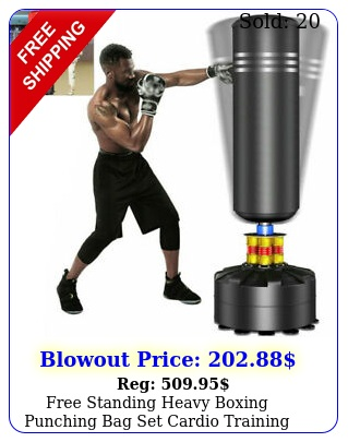 free standing heavy boxing punching bag set cardio training kickboxing adult mm