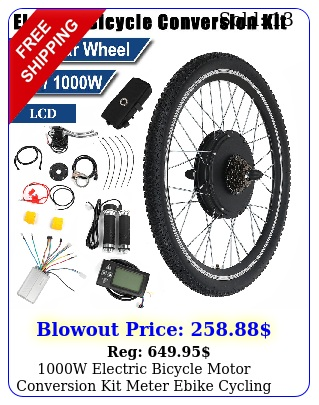 w electric bicycle motor conversion kit meter ebike cycling front rear whee