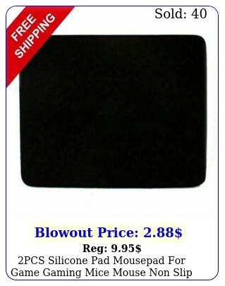 pcs silicone pad mousepad game gaming mice mouse non slip mat p