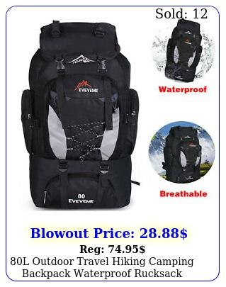 l outdoor travel hiking camping backpack waterproof rucksack trekking bag pac